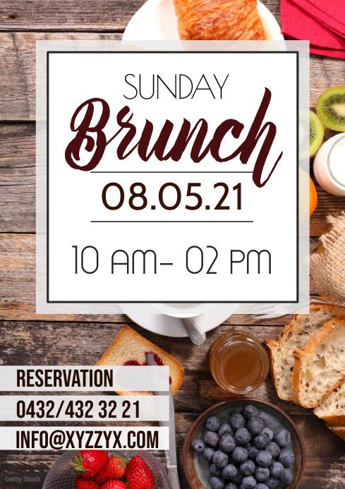 Restaurant Bistro Brunch Break fast Poster Flyer