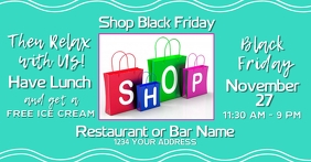 Restaurant Black Friday Facebook Promotion template
