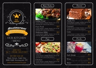 RESTAURANT BROCHURE MENU A5 template
