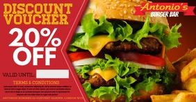 Restaurant Burger Bar Promo Facebook Ad Template