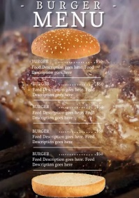 Restaurant Burger Menu Template