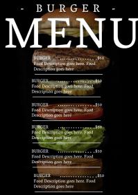 Restaurant Burger Menu Template