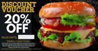 Restaurant Burger Promo Facebook Ad Template