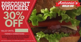 Restaurant Burger video Promo Ad Template