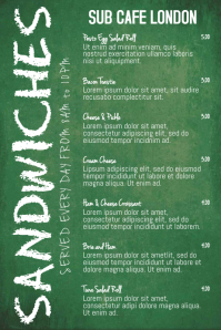 Restaurant Cafe Bar Pub Menu Template