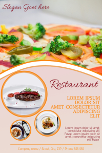 Restaurant caffee advertising promotion Poster Template