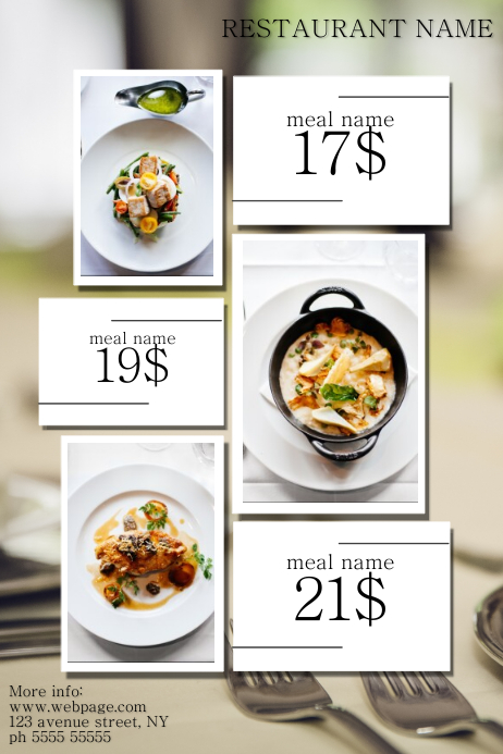 restaurant caffee sale advertisign promotion poster template
