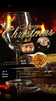 Restaurant Christmas Menu Digitale Vertoning (9:16) template