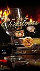 Restaurant Christmas Menu