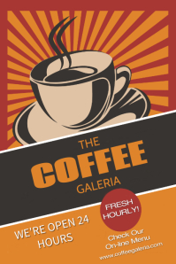 restaurant coffee Poster template