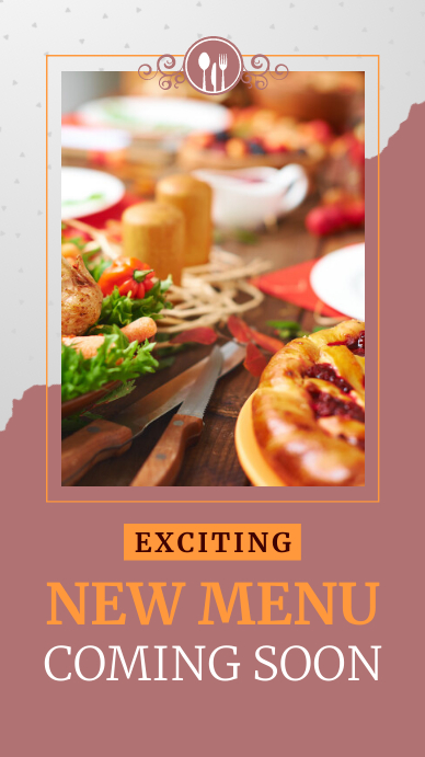 Restaurant Coming Soon Instagram Story template