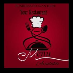 Restaurant Publicación de Instagram template