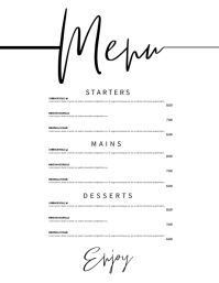 Restaurant Flyer (Letter pang-US) template