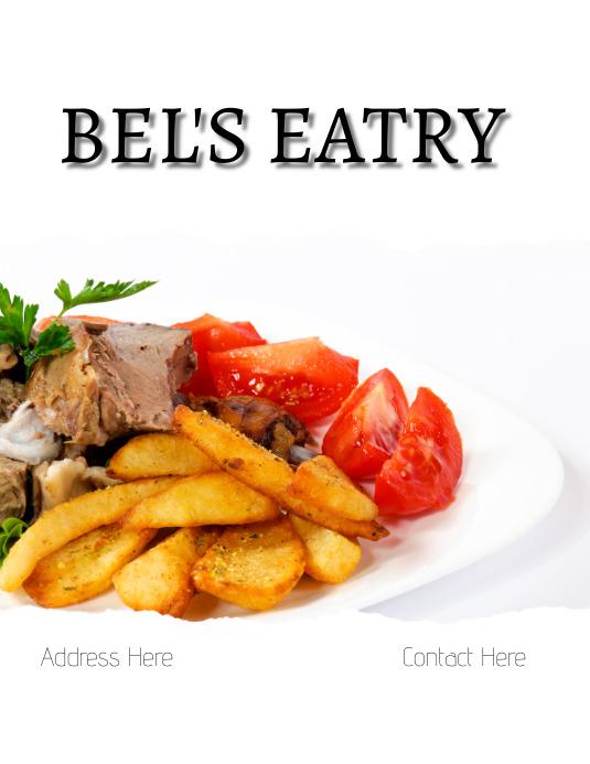 Restaurant Design Ulotka (US Letter) template