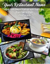 restaurant Flyer (format US Letter) template
