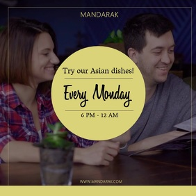 Restaurant Discount Facebook Video Template