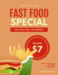 Restaurant Discount Flyer Template