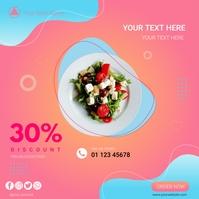 Restaurant Discount Instagram post template