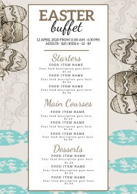 Restaurant Easter Dinner Menu Template