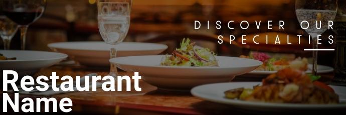 Restaurant email header Koptekst e-mail template