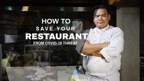Restaurant Event Banner Facebook-Covervideo (16:9) template