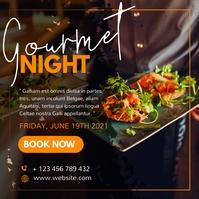 restaurant event gourmet night template desig โพสต์บน Instagram