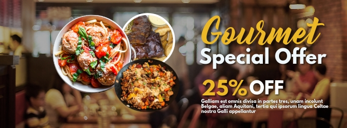 Restaurant facebook advertisement gourmet spe template