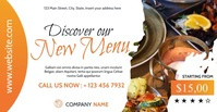 restaurant facebook advertising Umkhangiso we-Facebook template