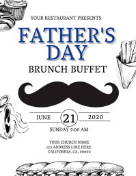 Restaurant Father's Day Flyer Template
