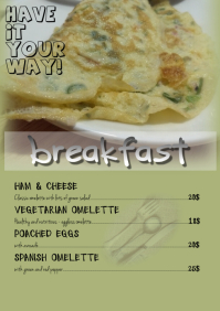 Restaurant flyer/Breakfast menu card