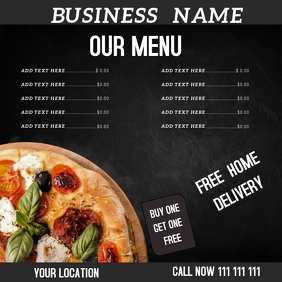 restaurant flyer Instagram-Beitrag template