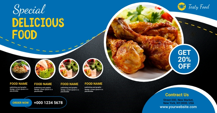 Restaurant Flyer Facebook Ad template