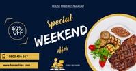 Restaurant flyer Facebook Shared Image template