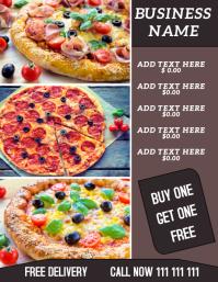 restaurant flyer Volantino (US Letter) template