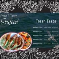 Restaurant flyer Instagram-Beitrag template