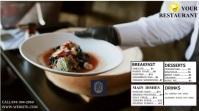 Restaurant flyer งานแสดงผลงานแบบดิจิทัล (16:9) template