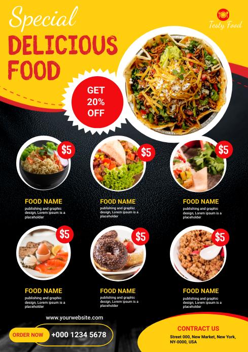 Restaurant Flyer A4 template