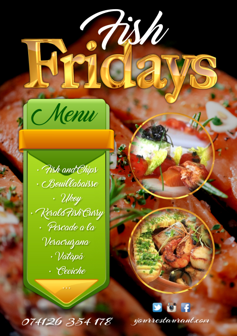 restaurant flyers template postermywall