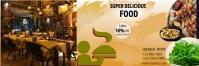 Restaurant flyer Twitter-Kopfzeile template