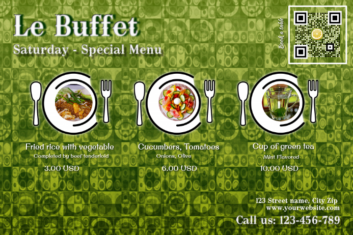 Restaurant Flyer For Special Menu Promotion Template Postermywall