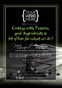 Restaurant Flyer Poster Visit Card