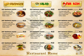Best Restaurant flyers with QRcode on PosterMyWall
