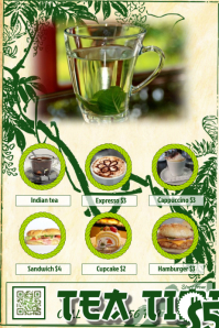 Restaurant flyer - Theme: Green tea