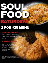 free soul food flyer templates ecza productoseb co
