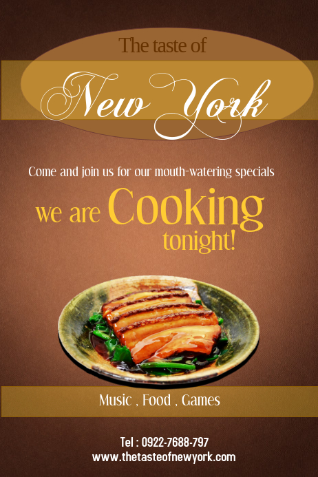 restaurant flyer template postermywall