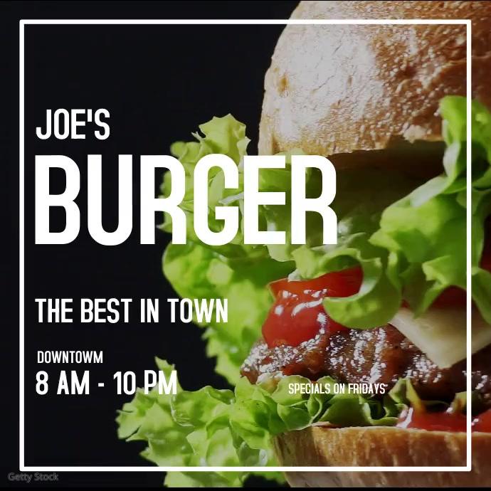 Restaurant flyer template Square (1:1)