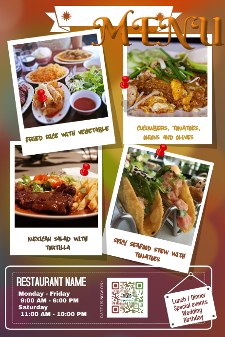 creative restaurant flyers and poster template postermywall