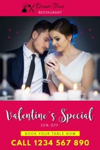 restaurant flyer valentine's sale