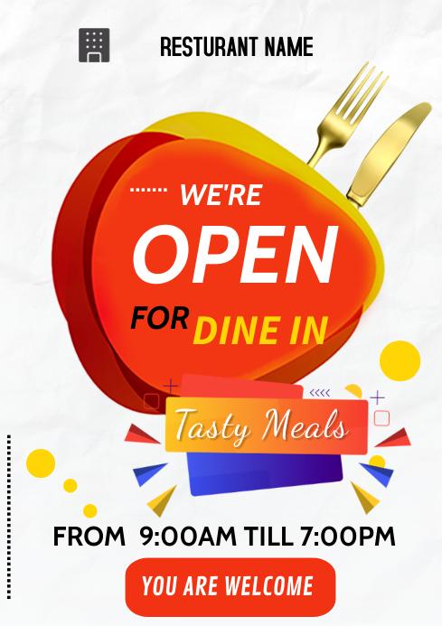 restaurant flyers A3 template