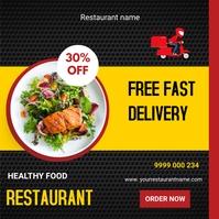 Restaurant flyers Iphosti le-Instagram template